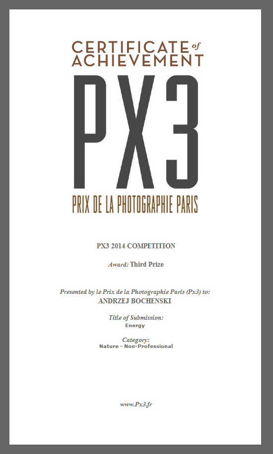 PX3 certificate